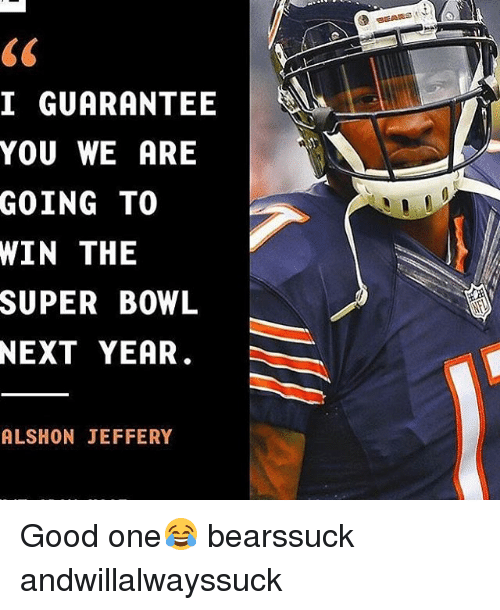 low priced 5c800 13e43 I GUARANTEE YOU WE ARE GOING TO WIN THE SUPER BOWL NEXT YEAR ...