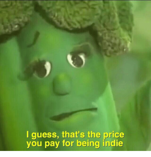 Guess, Indie, and You: I guess, that's the price  you pay for being indie