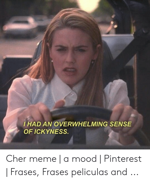 I Had An Overwhelming Sense Of Ickyness Cher Meme A Mood