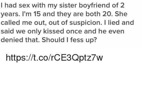sister having sex with boyfriend