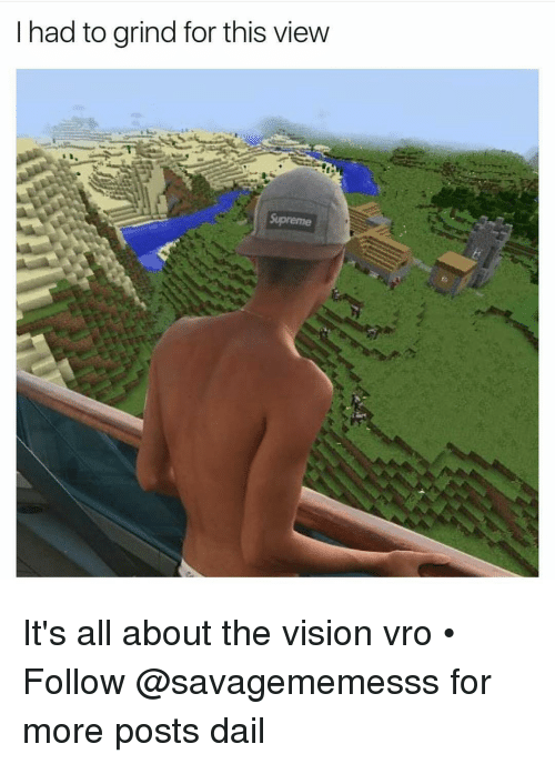 Memes, 🤖, and Grinding: I had to grind for this view  me It's all about the vision vro • ➫➫ Follow @savagememesss for more posts dail