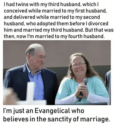 My first marriage his third