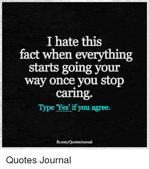 Once you stop caring quotes