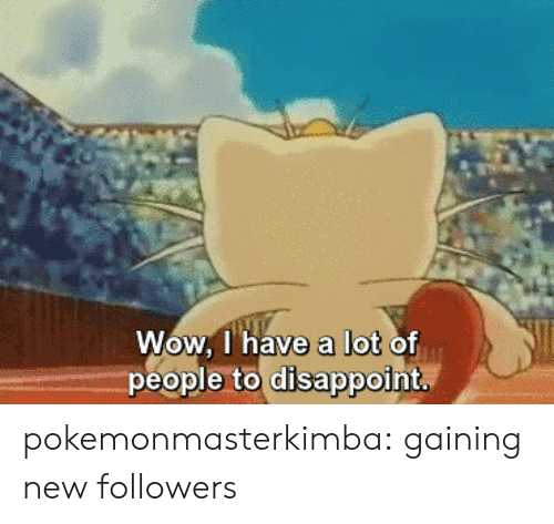 Target, Tumblr, and Wow: I have a lot  Wow. l' have a lot of  people to disappoint pokemonmasterkimba: gaining new followers