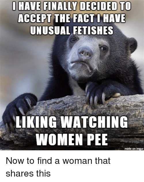 Watching women urinate fetish