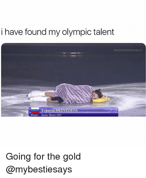 Music, Sailor Moon, and Moon: i have found my olympic talent  Evgenia MEDVEDEVA  Sailor Moon OST  Music: Going for the gold @mybestiesays