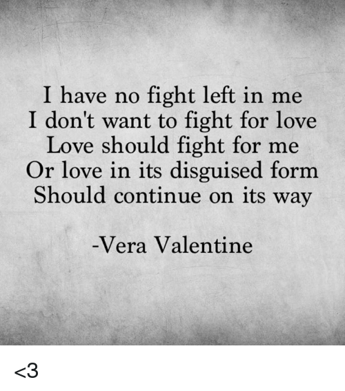 i have no fight left in me