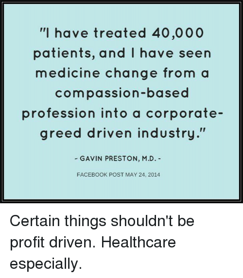 Image result for corporate greed healthcare