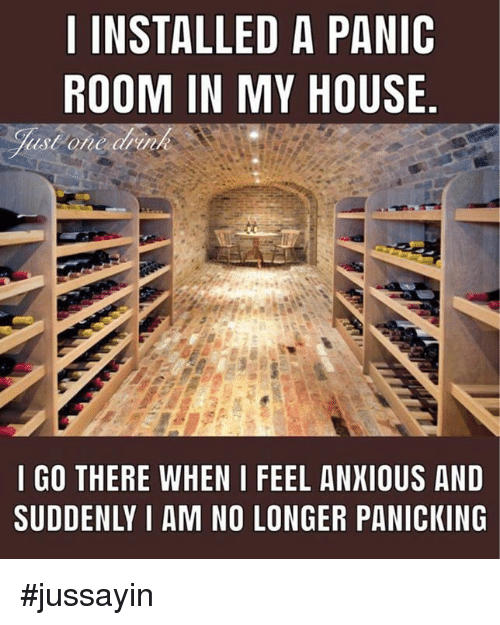 Dank, My House, and House: I INSTALLED A PANIC  ROOM IN MY HOUSE.  I GO THERE WHEN I FEEL ANXIOUS AND  SUDDENLY I AM NO LONGER PANICKING #jussayin