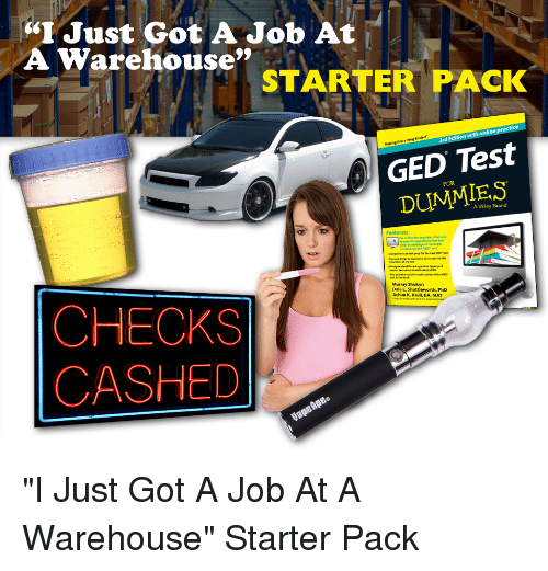 I Just Got A Job At A Warehouse Starter Pack Practice Online With