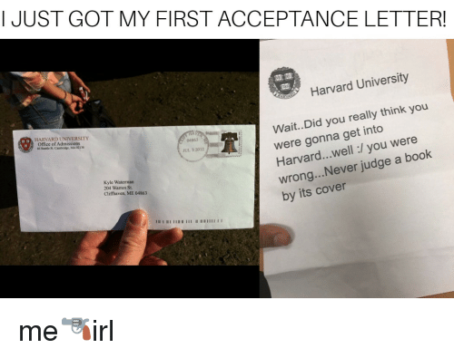 Rodent GUYSI JUST GOT MY FIRST ACCEPTANCE LETTER Harvard