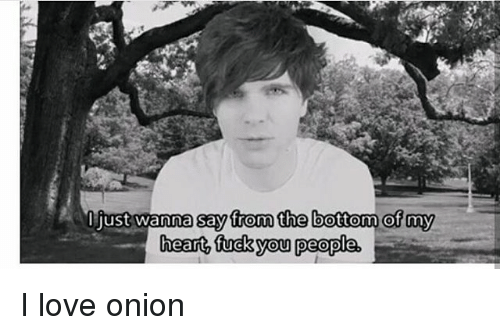 Love, Memes, and Heart: I just wanna say from the bottom of my  heart tucky people I love onion