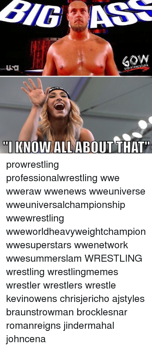 """Memes, Wrestling, and World Wrestling Entertainment: """"I KNOW ALL ABOUT THAT prowrestling professionalwrestling wwe wweraw wwenews wweuniverse wweuniversalchampionship wwewrestling wweworldheavyweightchampion wwesuperstars wwenetwork wwesummerslam WRESTLING wrestling wrestlingmemes wrestler wrestlers wrestle kevinowens chrisjericho ajstyles braunstrowman brocklesnar romanreigns jindermahal johncena"""