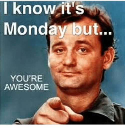 Awesome Meme: I Know It's Monday But YOU'RE AWESOME