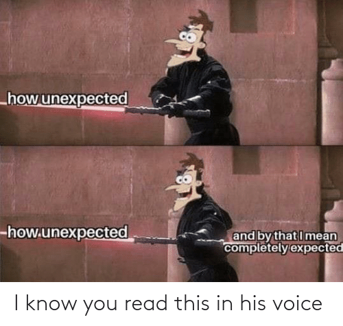 Voice, You, and Read: I know you read this in his voice