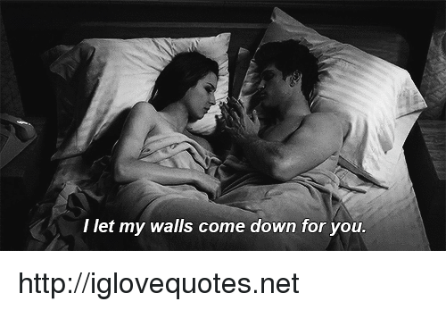 I Let My Walls Come Down for You Httpiglovequotesnet | Http Meme on