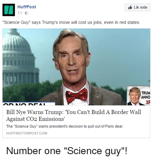 I Lik Side HuffPost Science Guy Says Trump's Move Will