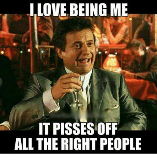Memes, 🤖, and Pissed Off: I LOVE BEING ME IT PISSES OFF ALL THE RIGHT PEOPLE