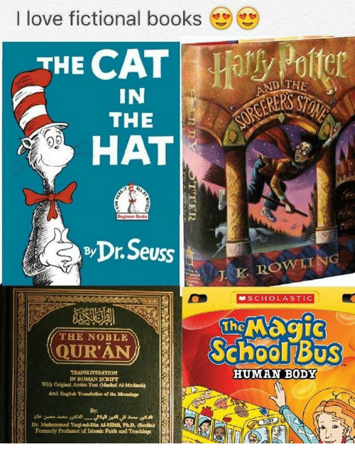 I Love Fictional Books THE CAT IN THE Deginner Books by Dr