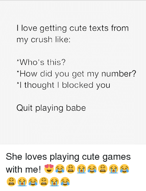 Text games to play with crush