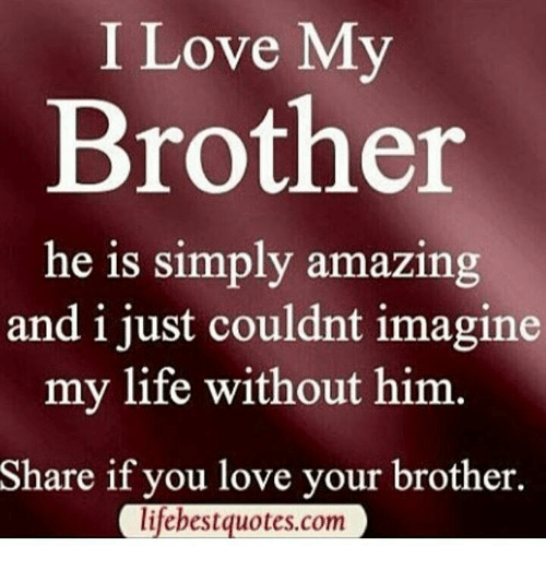 memes and best quotes i love my brother he is simply amazing