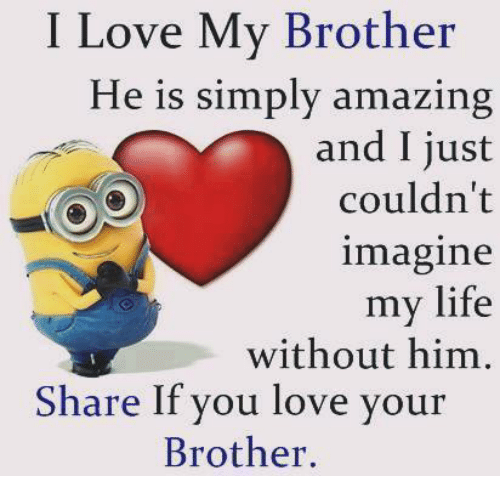 I Love My Brother He Is Simply Amazing And I Just Couldnt Imagine