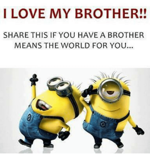 love memes and world i love my brother share this if