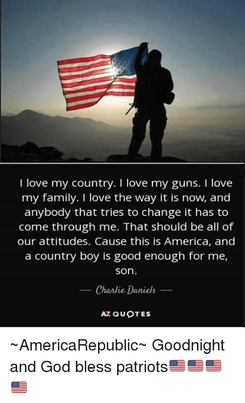 I Love My Country I Love My Guns I Love My Family I Love The Way It