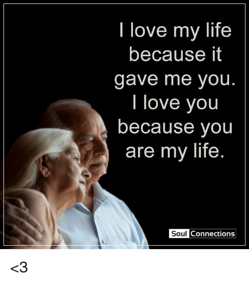 I Love My Life Because It Gave Me You Love You Because You Are My