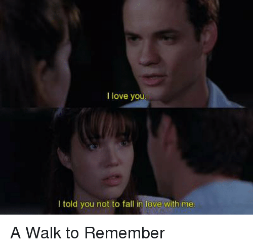 Memes, 🤖, and A Walk to Remember: I love yo  I told you not to fall in love with me A Walk to Remember