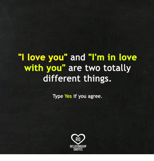 I Love You and I\'m in Love With You Are Two Totally ...
