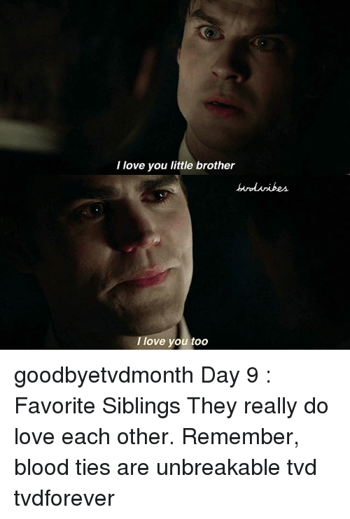 I Love You Little Brother I Love You Too Goodbyetvdmonth Day 9