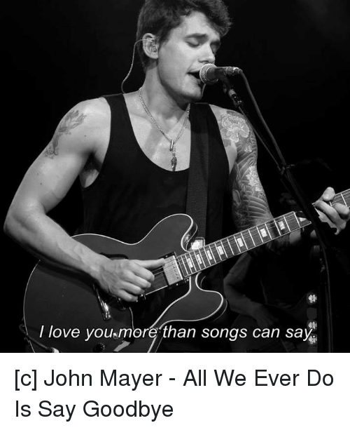 Songs to say goodbye to a lover