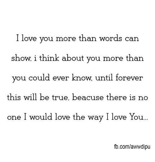 i love you more than you could ever know