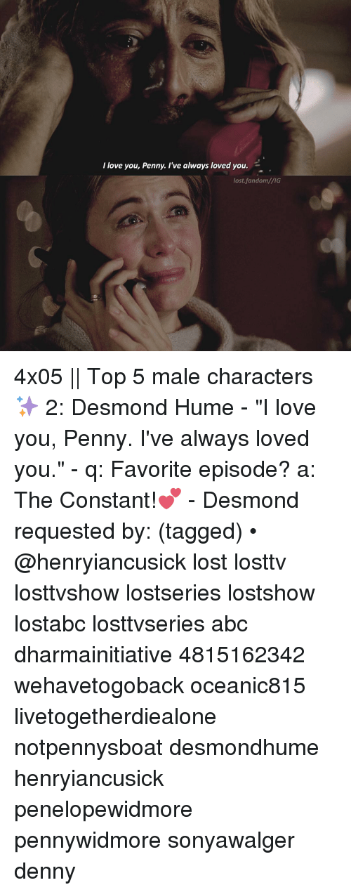 I Love You Penny I've Always Loved You Lost fandomlIG 4x05