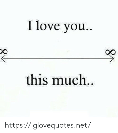Love, I Love You, and Net: I love you..  this much..  8M https://iglovequotes.net/