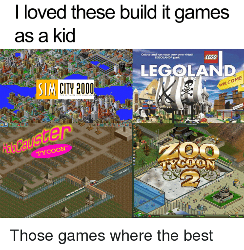 Run, The Game, And Best: I Loved These Build It Games As A