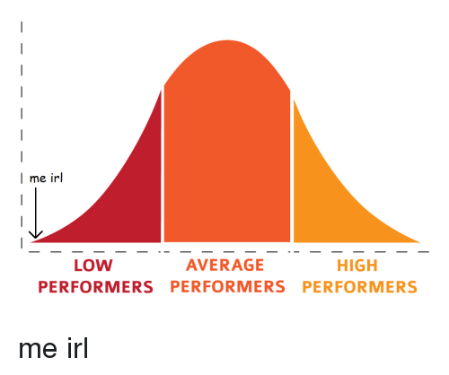 Irl, Me IRL, and High: I me irl  HIGH  LOW  AVERAGE  PERFORMERS  PERFORMERS PERFORMERS