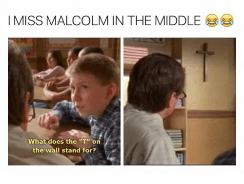 i miss malcolm in the middle what does the t 7751928 i miss malcolm in the middle what does the t on the wall stand for