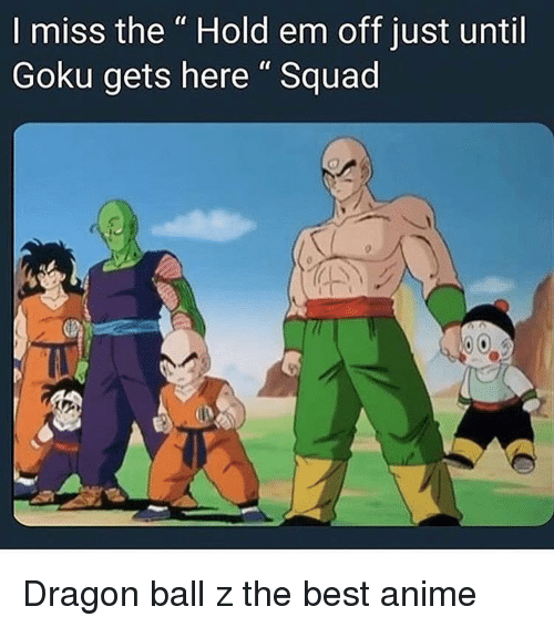 Anime Goku And Squad I Miss The Hold Em Off Just Until