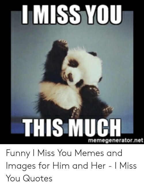 I MISS YOU THIS MUCH Memegeneratornet Funny I Miss You Memes