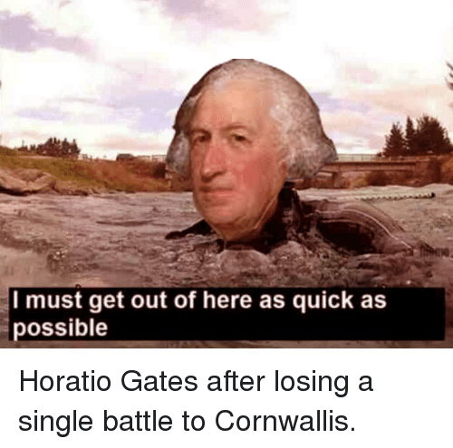 History, Single, and Gates: I must get out of here as quick as  possible