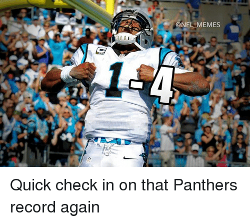 Meme, Memes, and Nfl: I  @NFL MEMES Quick check in on that Panthers record again