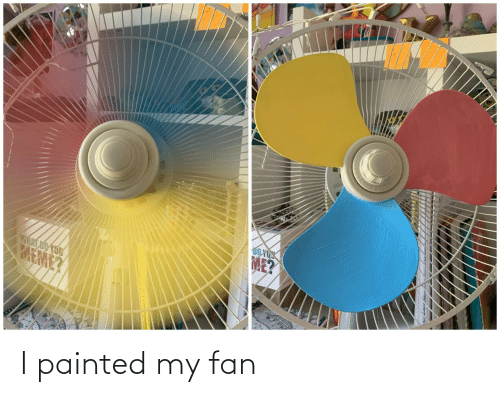 Fan,  Painted, and My: I painted my fan