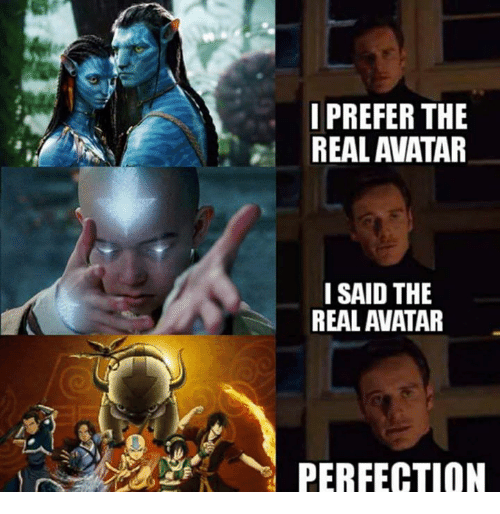 I Prefer The Real Avatar I Said The Real Avatar Perfection Funny