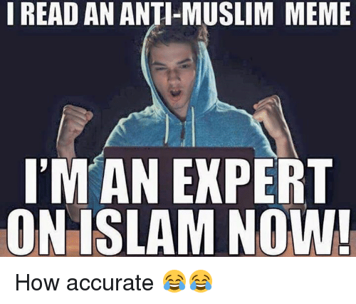 Meme, Memes, and Muslim: I READ AN ANTI-MUSLIM MEME  IM AN EXPERT  ON ISLAM NOW! How accurate 😂😂