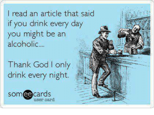 Is someone who drinks everyday an alcoholic