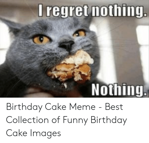 Prime I Regret Nothing Nothing Birthday Cake Meme Best Collection Of Personalised Birthday Cards Veneteletsinfo