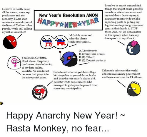 clothes college and memes i resolve to search out and find things that happy anarchy new year