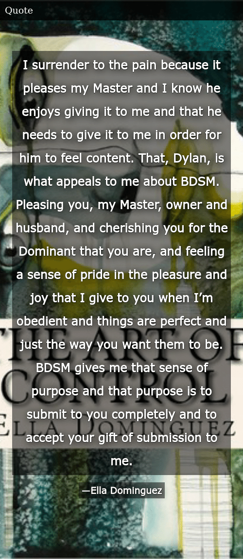 a to how Bdsm surrender control master to